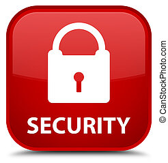 Security (padlock icon) special red square button