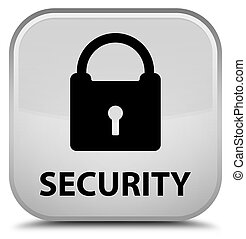 Security (padlock icon) special white square button