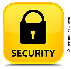 Security (padlock icon) special yellow square button