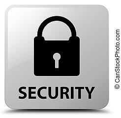 Security (padlock icon) white square button