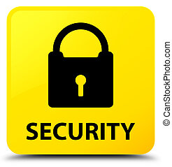 Security (padlock icon) yellow square button