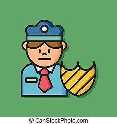 security policeman vector icon