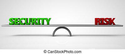 security risk balance concept 3d illustration