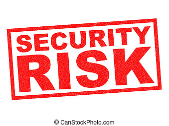 SECURITY RISK red Rubber Stamp over a white background.