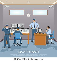 Security Room Illustration