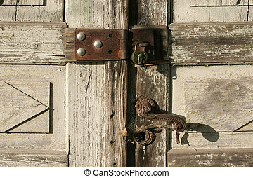security - rusty old lock