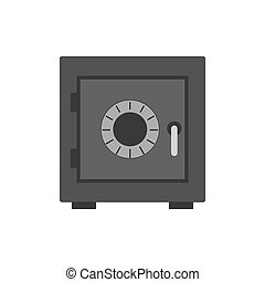 Security safe icon. Symbol in trendy flat style isolated on white background.