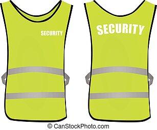 Security safety vest. vector illustration