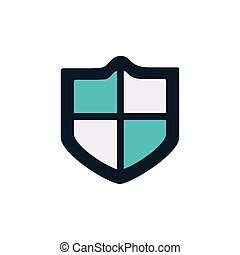 security shield flat style icon