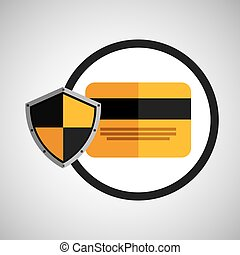 security shield icon - credit card and security shield icon,...