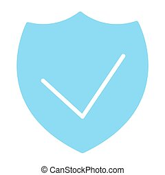 Security Shield Pixel Perfect Vector Silhouette Icon 48x48. Simple Minimal Pictogram