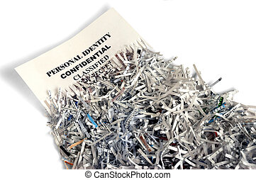 Shredded paper depicting privacy protection