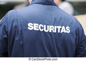 security - Sicherheitsdienst - security wearing an overall...