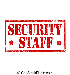 Grunge rubber stamp with text Security Staff, vector illustration