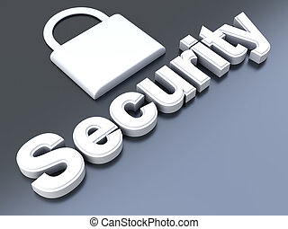 Security symbol. 3D rendered Illustration.