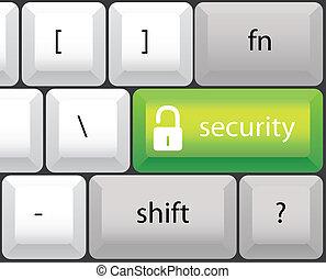 security symbol, keyboard illustration