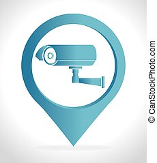 Security system and surveillance graphic design, vector...