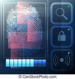 Security system - Illustration with scanning of a...