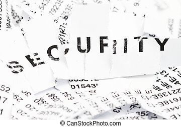 Security - this is an image of the word security partly...