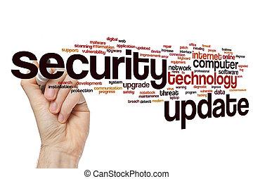 Security update word cloud