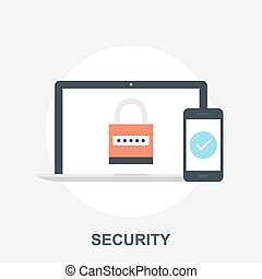 Security - Vector illustration of security flat design ...