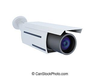 Security video camera. 3d rendering