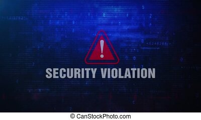 Security Violation Alert Warning Error Message Blinking on...