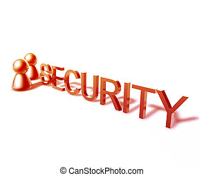 Security word graphic - Security online word graphic, with...