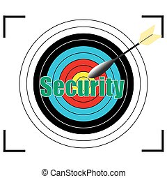Security word Vector, business concept.