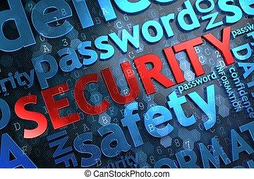 security., wordcloud, concept.