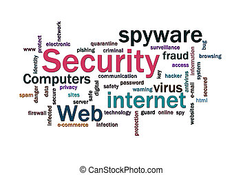 Security words cloud - Cloud of security related words