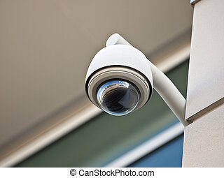 Secutiry Camera - High tech overhead security camera at a...