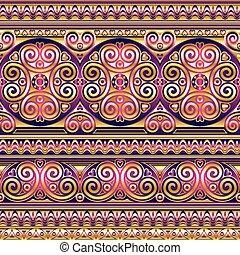 seda, asiático, seamless, ornamento
