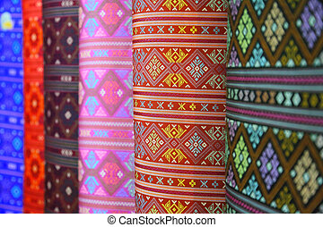 seda, colorido, tailandia