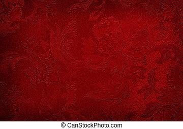 seda, fondo rojo