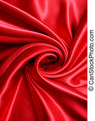 seda, liso, experiência vermelha