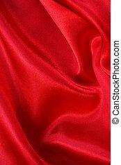 seda, liso, fondo rojo
