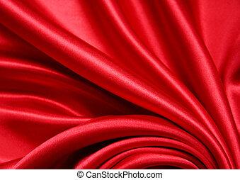 seda, liso, fundo, vermelho