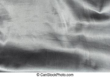 seda, ondulado, prata, fundo