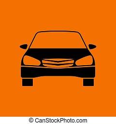 Sedan car icon front view