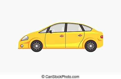 Sedan car side view - Stock vector illustration isolated...