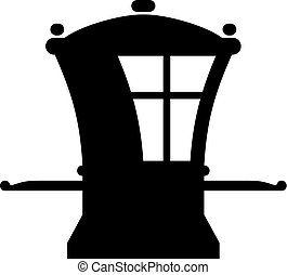 Sedan chair, shade picture