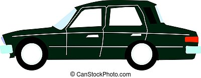 sedan - vector illustration of sedan