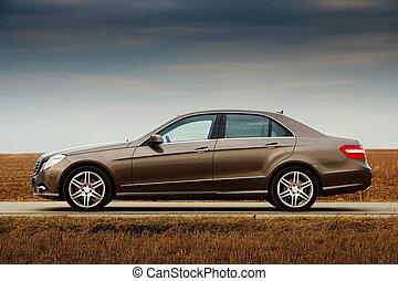sedan, moderne, côté, business, vue