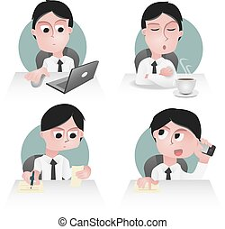 sedentary - character of an office worker