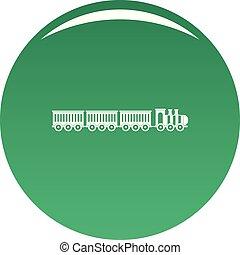 Sedentary train icon vector green