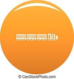 Sedentary train icon vector orange