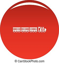 Sedentary train icon vector red