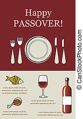 Seder Pesach with holiday elements