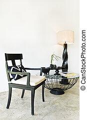 sedere, nero, contemporaneo, combinazione